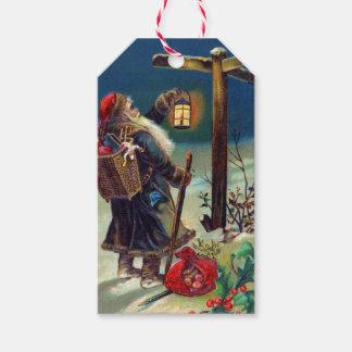 German Santa Claus Christmas Gift Tags