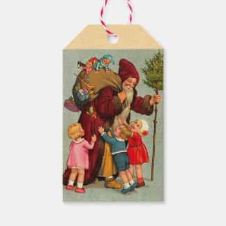 German Santa Claus Holiday Gift Tags