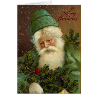 German Santa Vintage Christmas Card