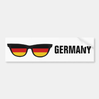 German Shades custom text & color bumpersticker Bumper Sticker
