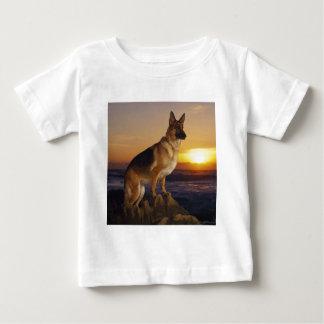 German Shepard At Sunset Baby T-Shirt