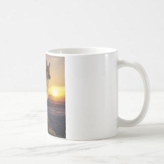 German Shepard At Sunset Coffee Mug