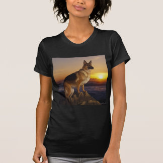 German Shepard At Sunset T-Shirt