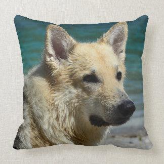German Shepard By The Sea Pillow