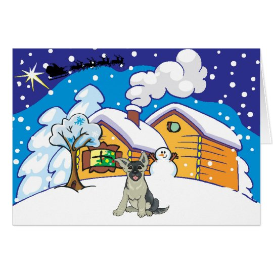 german shepard cabin card