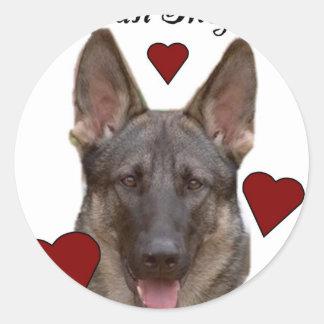 german shepard dog sticker