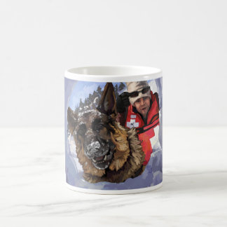 German Shepard Search and Rescue in the Snow Magic Mug