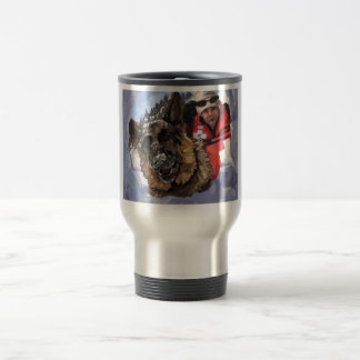German Shepard Search and Rescue in the Snow Travel Mug