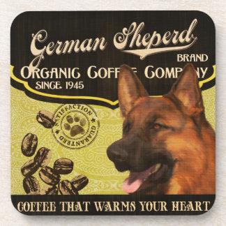 German Sheperd Brand – Organic Coffee Company Drink Coaster