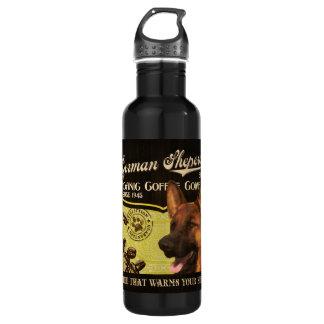 German Sheperd Brand – Organic Coffee Company Water Bottle