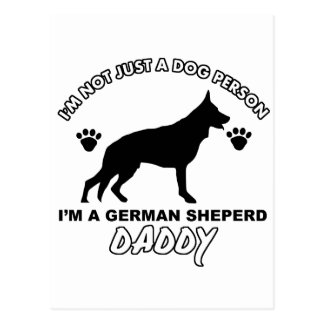 German Sheperd Dog Daddy Postcard
