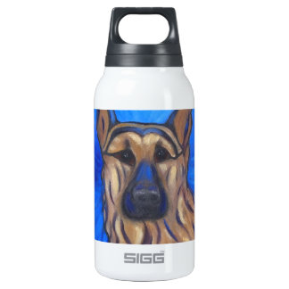 German Shepherd 10 Oz Insulated SIGG Thermos Water Bottle