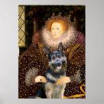 German Shepherd 10    -  Queen Elizaabeth Posters