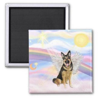 German Shepherd 2 Inch Square Magnet