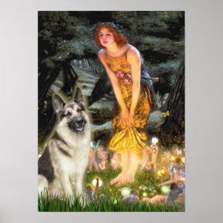 German Shepherd 9 -Midsummers Eve Posters