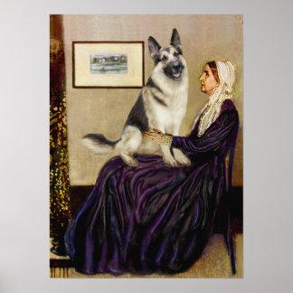 German Shepherd 9 -  Whistlers Mother Posters