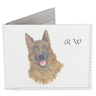 German Shepherd, add monogram Tyvek® Billfold Wallet