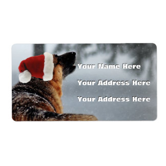 German Shepherd Address Labels