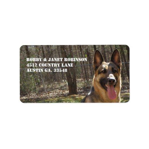 German Shepherd Address Stickers Custom Address Label