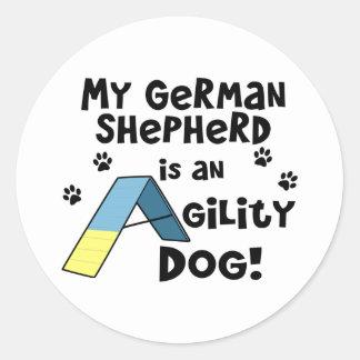 German Shepherd Agility Dog Stickers