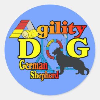 German Shepherd Agility Shirts Gifts Classic Round Sticker