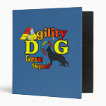 German Shepherd Agility Vinyl Binder