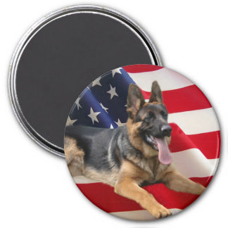 German Shepherd America Magnet