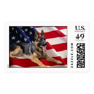 German Shepherd America Postage Stamp