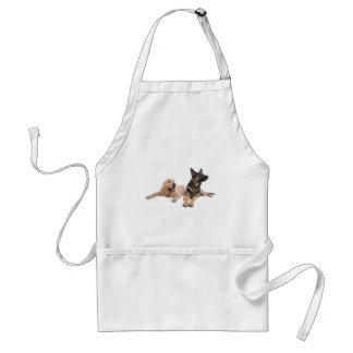 german shepherd and golden retriever adult apron