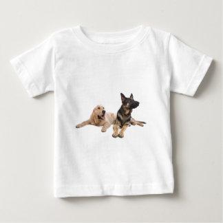 german shepherd and golden retriever baby T-Shirt