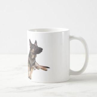german shepherd and golden retriever taza de café