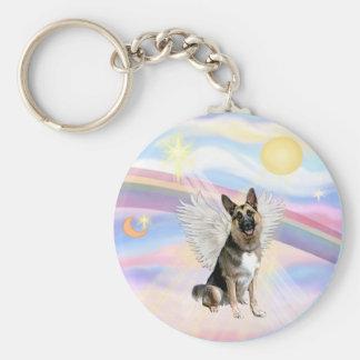 German Shepherd Angel (3) Basic Round Button Keychain