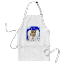 German shepherd angel adult apron