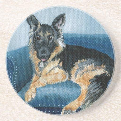 German Shepherd Angus Drink Coaster
