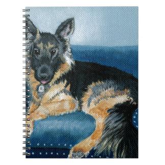 German Shepherd Angus Spiral Notebook