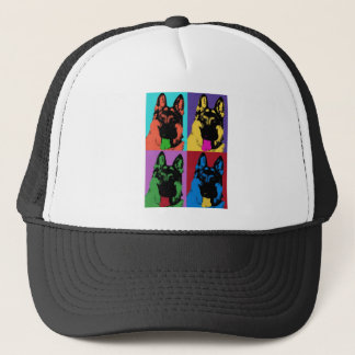 German Shepherd Art Trucker Hat