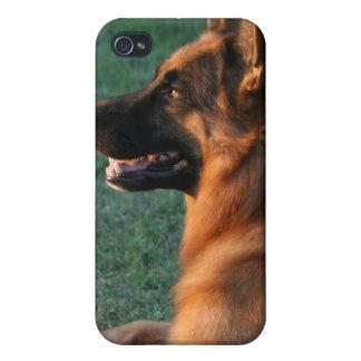 "German Shepherd at sunset - ""Zamp"" iPhone 4/4S Case"