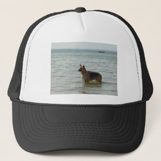German Shepherd at the Beach Trucker Hat
