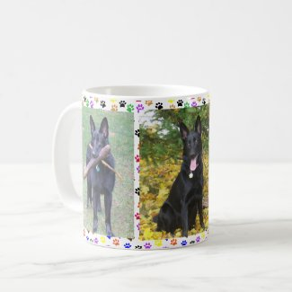 German Shepherd, Autumn and Toys & Paw Prints, ZKA Coffee Mug