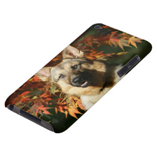German Shepherd Autumn Leaves iPod Touch Case-Mate Case