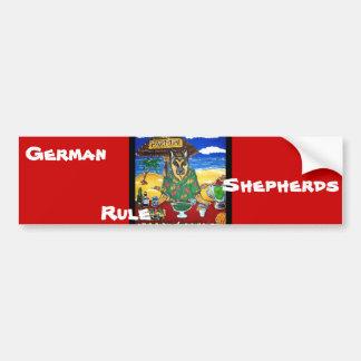 German Shepherd Bartender Bumper Sticker
