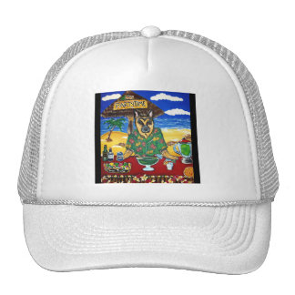 German Shepherd Bartender Trucker Hat