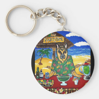 German Shepherd Bartender Key Chain
