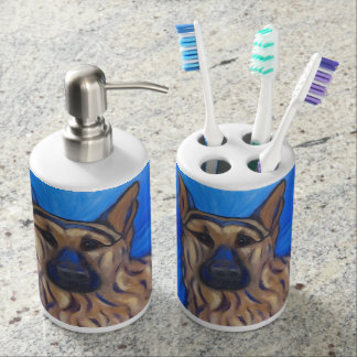 German Shepherd Bathroom Set