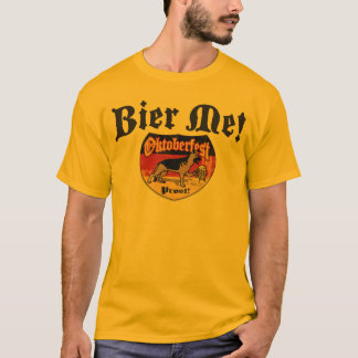German Shepherd Bier Emblem T-Shirt