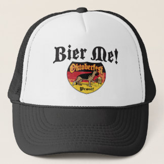 German Shepherd Bier Emblem Trucker Hat