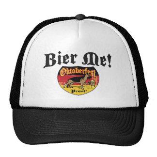 German Shepherd Bier Emblem Trucker Hat