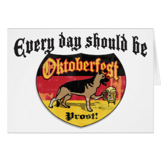 German Shepherd Bier Hound Card