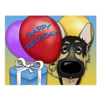 German Shepherd Birthday Postcard