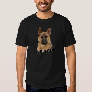 German Shepherd Bite Me design Tee Shirt